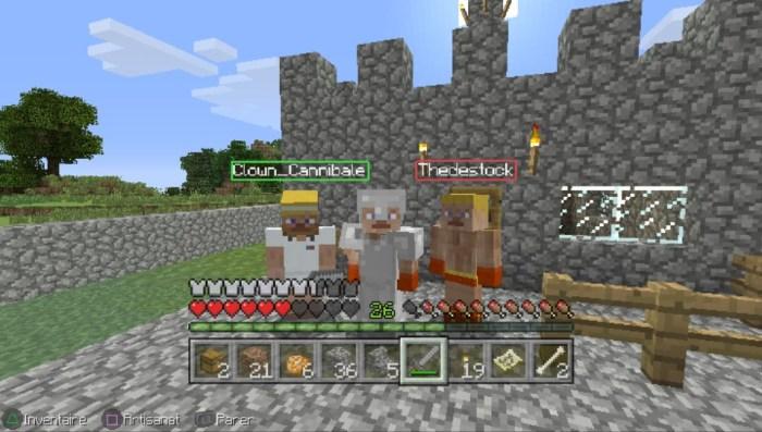 Minecraft en jeu online sur PS Vita