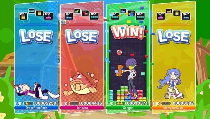 Puyo Puyo Tetris en jeu online sur PS Vita