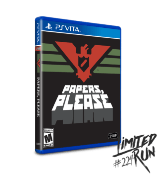 Papers, Please PS Vita Limited Run Games