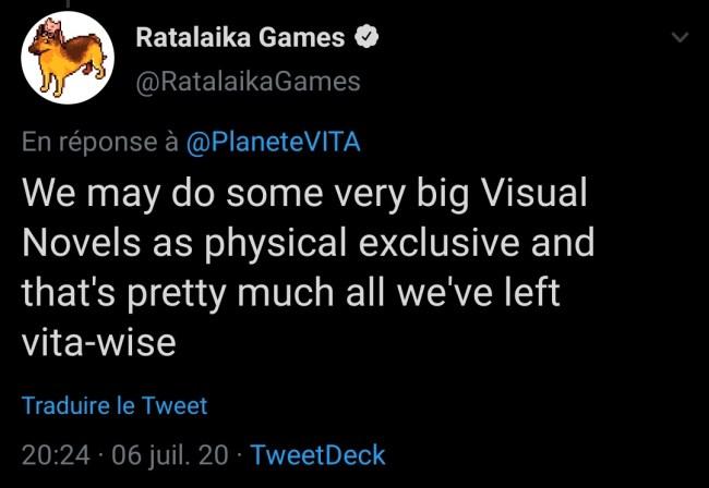 Ratalaika visual novels en versions physiques limitées sur PS Vita
