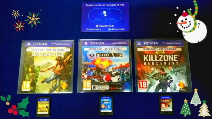Concours jeux promos PS Vita de Noël 2020
