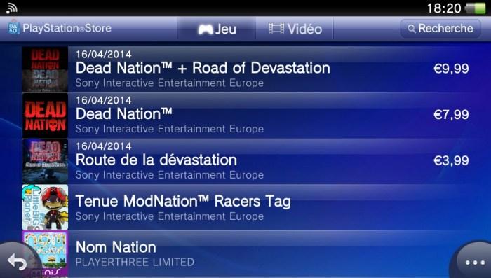 Dead Nation DLC PS Vita
