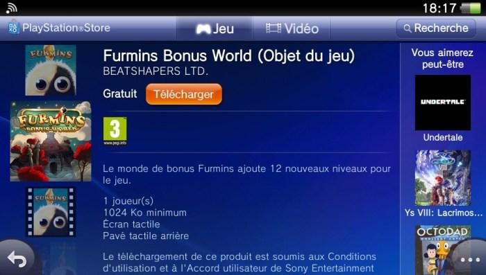Furmins DLC PS Vita