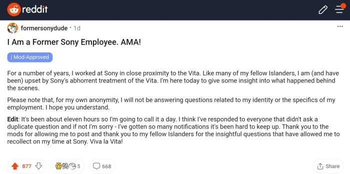 Reddit PS Vita
