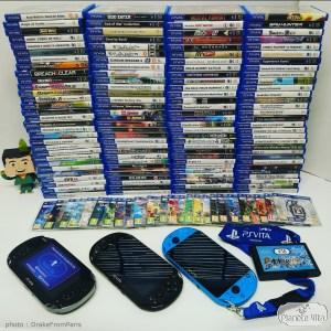 Une collection de jeux PS Vita