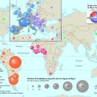 Géographie, cartographie et football