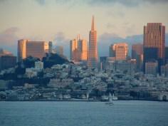 San Francisco au coucher du soleil - Photo CC 09/2005 par Digon3