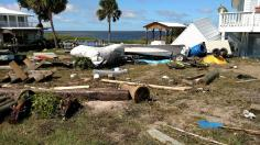 Keaton Beach (Floride) - Dommages Ouragan Hermine - Source : http://perrynewspapers.com/