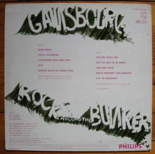 SERGE GAINSBOURG - Rock Around The Bunker