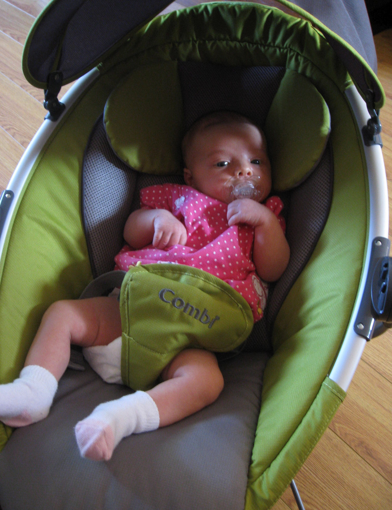 Lily in her second-hand Combi Pod Bouncer! (Sept. 13, 2009)