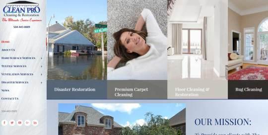 clean pro carpet website image