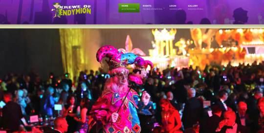 endymion website design image