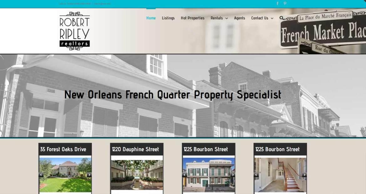 robert ripley realtors website design image