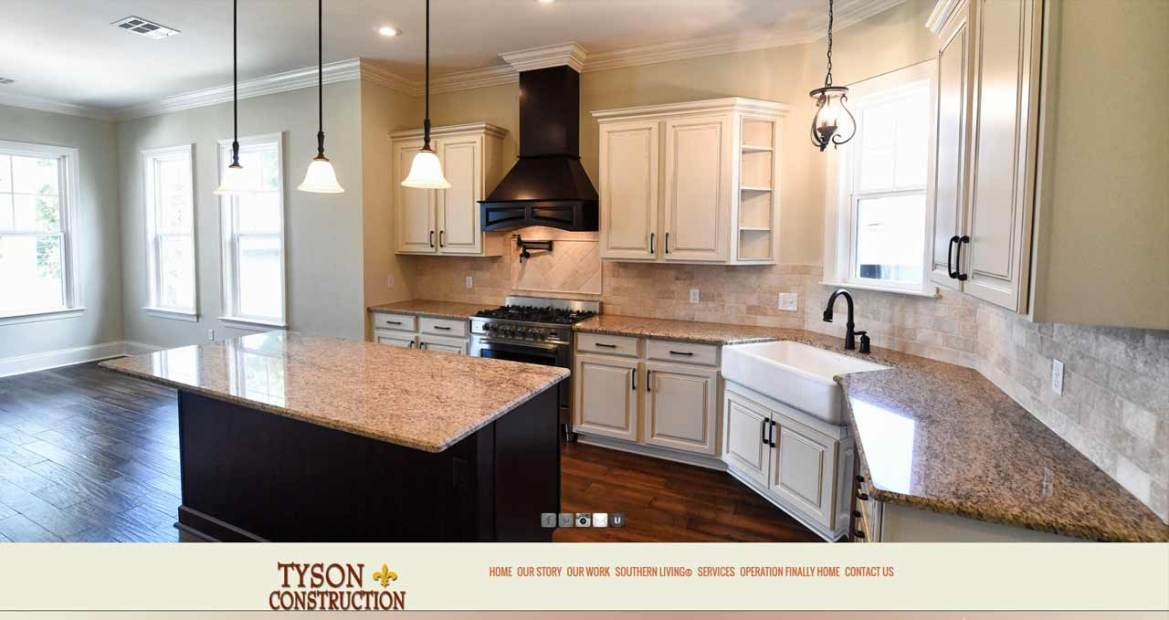 tyson construction website image