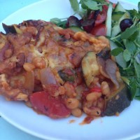 Slimming world baked bean Lasagne