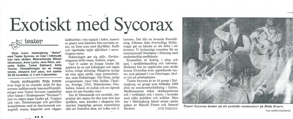 A musical performance with Sycorax. So so much fun...