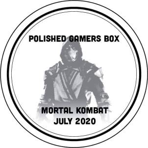 Polished Gamers Box logo featuring this months theme of Mortal Kombat