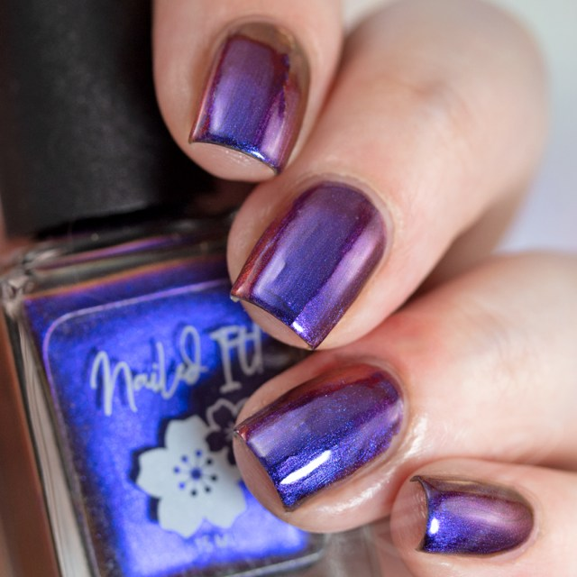 Pictured here is a nail swatch of nail polish by Nailed It! This polish is named Love Live The King and inspired by Supernatural. A part of The Very Supernatural Collab