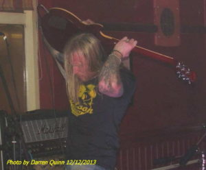 Steve from Doomsday Outlaw doing some fancy guitar playing!