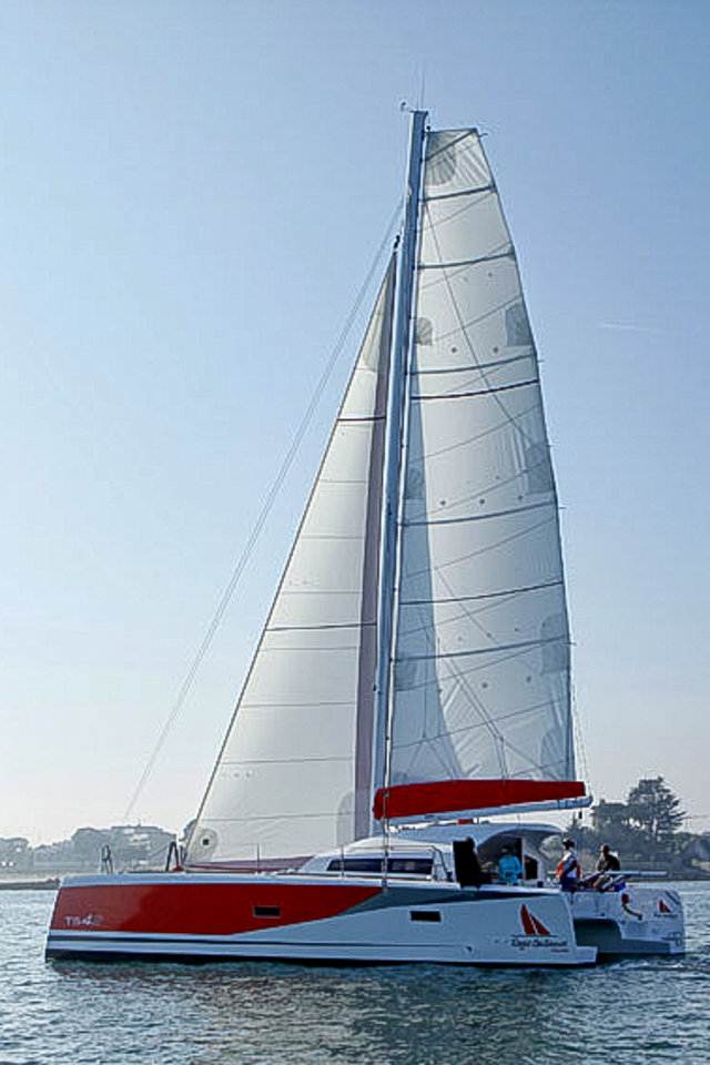 ORC 42 portrait under sail