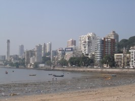Low tide at Chowpati beach Mumbai