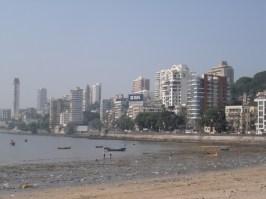 Low tide at Chowpati beach Mumbai