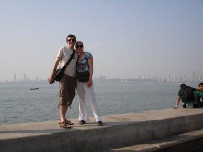 Noody on the sea wall Marine drive Mumbai