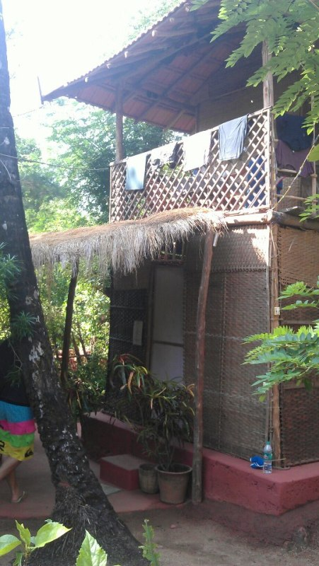 An example of the delightful beach hut accommodation from Palolem beach.