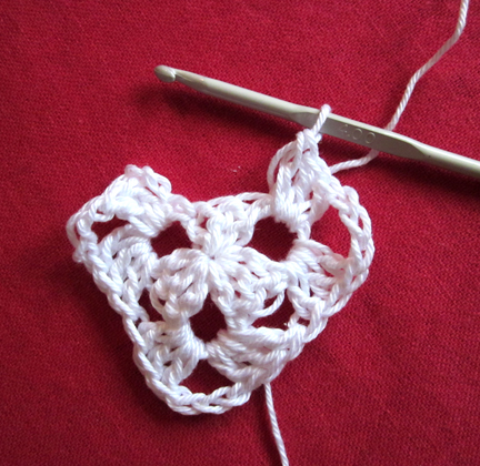 Step 6 Christmas Crochet Bunting