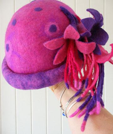 hand made felt hat