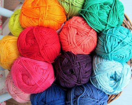 Planet Penny Cotton Yarn rainbow colours
