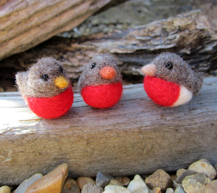 Needlefelt Robins for Christmas | Planet Penny