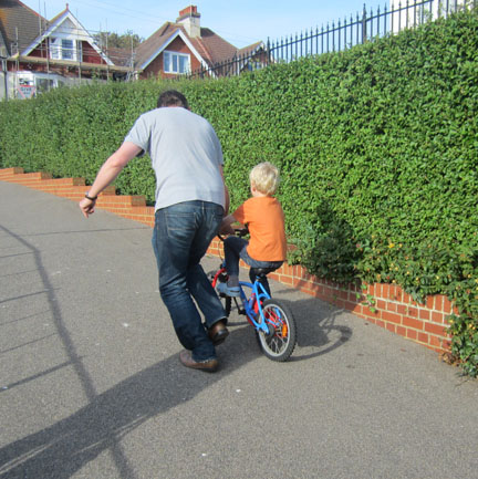 learning to ride a bike Bexhill Park
