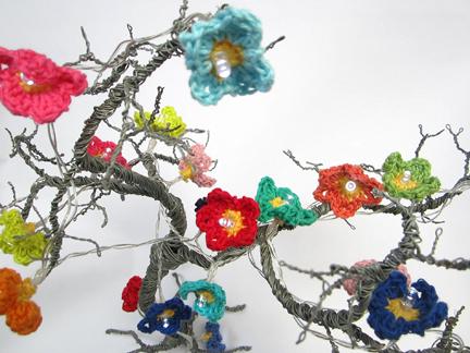 Crochet Fairy lights for  Day 13  Advent Calendar