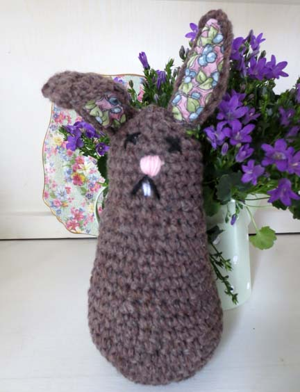 big crochet bunny for Spring