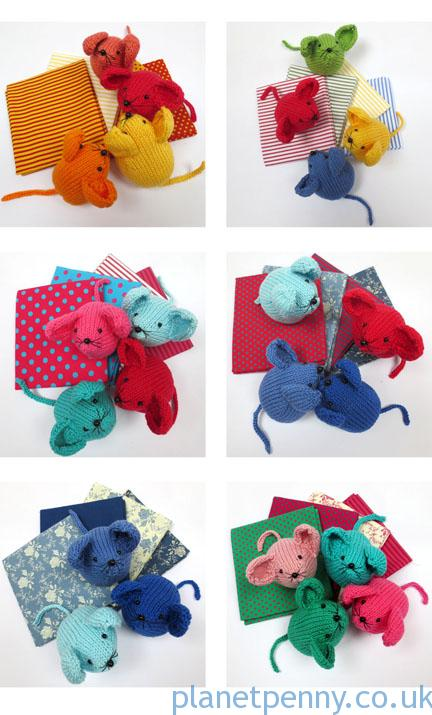 planet Penny Fabric and mice