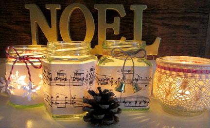 tea lights - Christmas Countdown