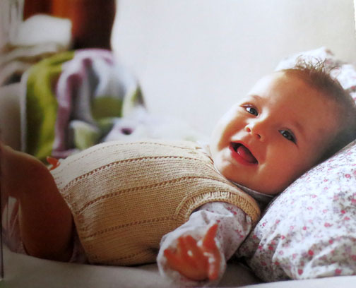 Baby Knits Debbie Bliss tank top