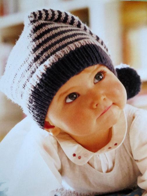 striped cap Debbie Bliss Baby Knits