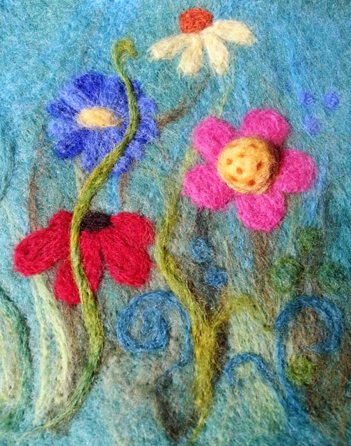 Needlefelt Flowers