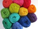 12 Balls Rainbow Cotton Yarn