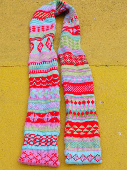 Remembering Vanessa - Fairisle scarf