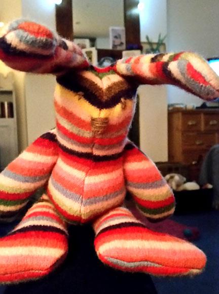 Stripey bunny for Happy Friday