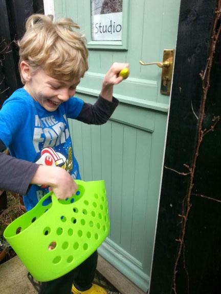 Happy Friday Easter Egg hunt
