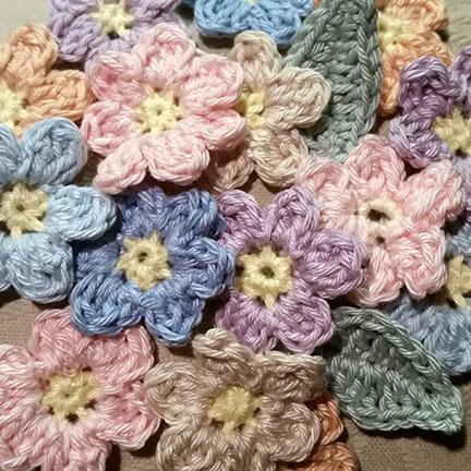 Crochet Butterfly & Flower Mobile - pattern & cotton yarn from Planet Penny