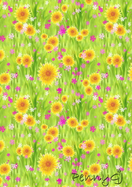 Painted flowers pattern by Penny GJ