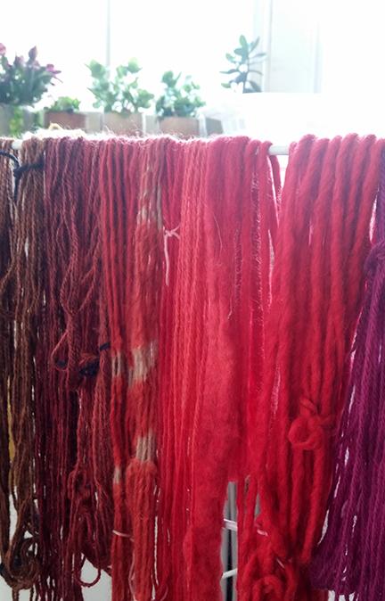 dyed wool - Aviva Leigh workshop