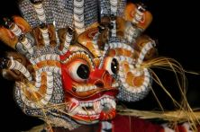 Close up of dancer's mask from the BBW