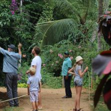 Our big German friend at Zee's Garden points out some JackFruit