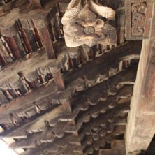 Embakke Temple wooden roof carving